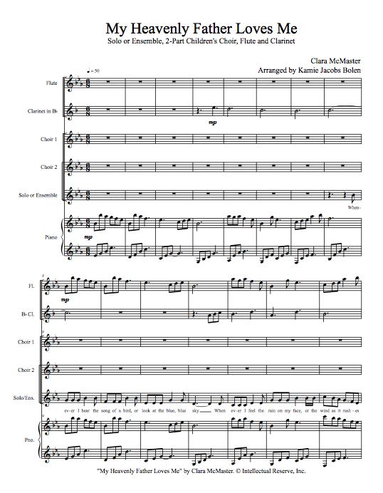 Sheet Music Kamie Jacobs Bolen